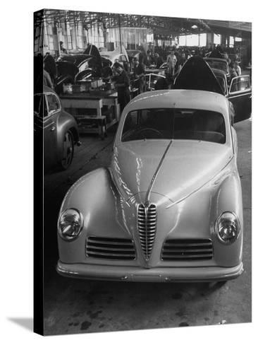 Asembly Line of Alfa Romeo Cars--Stretched Canvas Print