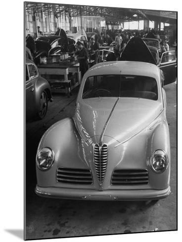 Asembly Line of Alfa Romeo Cars--Mounted Photographic Print