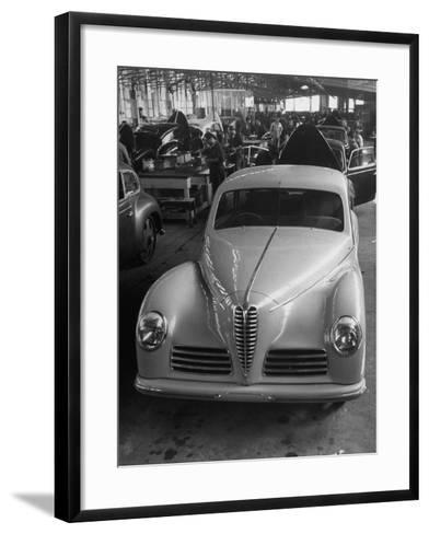 Asembly Line of Alfa Romeo Cars--Framed Art Print