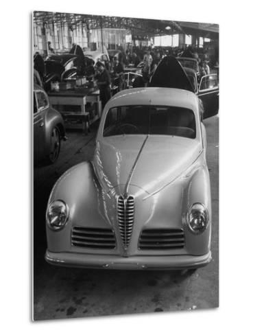 Asembly Line of Alfa Romeo Cars--Metal Print