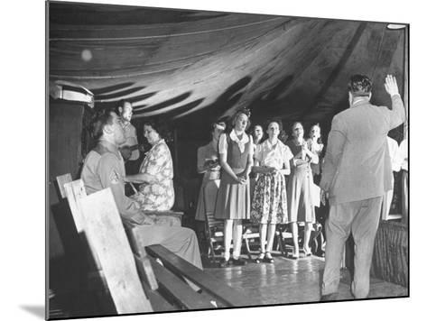 Worshippers Attending a Church of God Service--Mounted Photographic Print