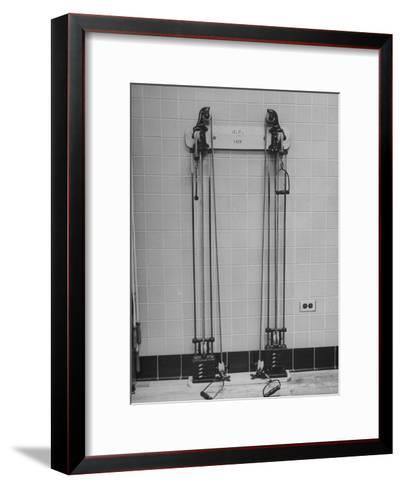 Strength Training Equipment in White House Gymnasium--Framed Art Print