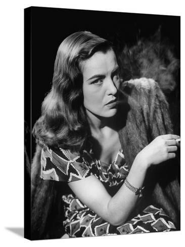 "Ella Raines Smoking a Cigarette in the Motion Picture ""Brute Force""--Stretched Canvas Print"