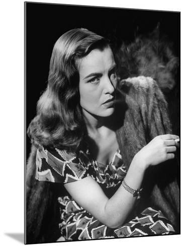 "Ella Raines Smoking a Cigarette in the Motion Picture ""Brute Force""--Mounted Photographic Print"