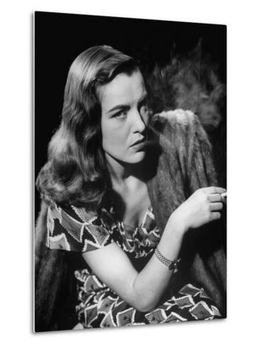 "Ella Raines Smoking a Cigarette in the Motion Picture ""Brute Force""--Metal Print"