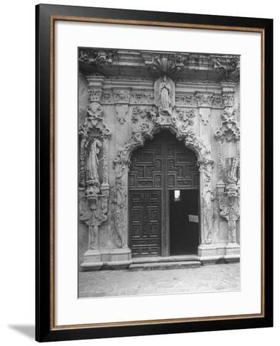 San Jose Mission, Restored, Used as Church and Historical Site, an Elaborately Decorated Archway--Framed Art Print