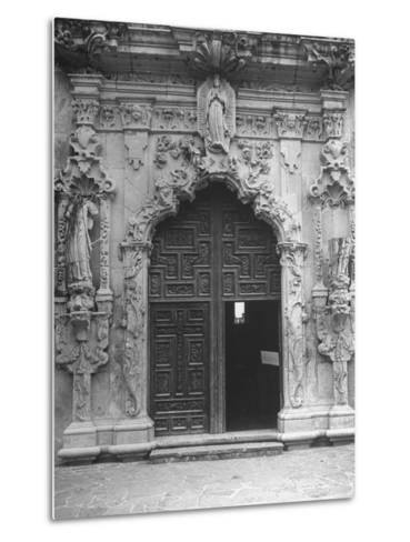 San Jose Mission, Restored, Used as Church and Historical Site, an Elaborately Decorated Archway--Metal Print