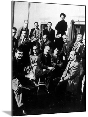 """Group Portrait of American Abstract Expressionists, """"The Irascibles""""--Mounted Photographic Print"""