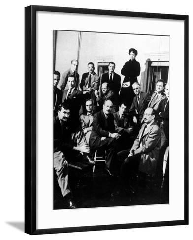 """Group Portrait of American Abstract Expressionists, """"The Irascibles""""--Framed Art Print"""