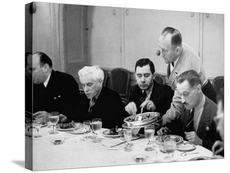 Russian Delegate Andrei A. Gromyko, Getting More to Eat from the Waiter--Stretched Canvas Print