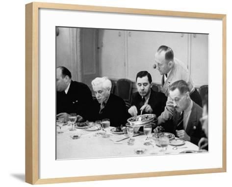 Russian Delegate Andrei A. Gromyko, Getting More to Eat from the Waiter--Framed Art Print