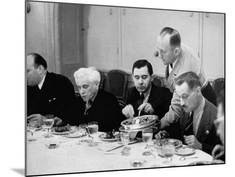 Russian Delegate Andrei A. Gromyko, Getting More to Eat from the Waiter--Mounted Photographic Print