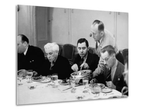 Russian Delegate Andrei A. Gromyko, Getting More to Eat from the Waiter--Metal Print