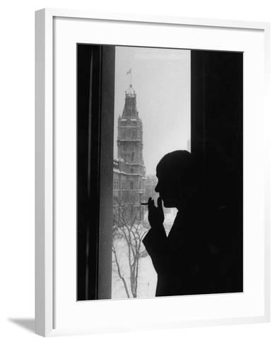 Premier Rene Levesque--Framed Art Print