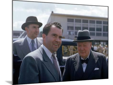 Richard Nixon and Winston Churchill--Mounted Photographic Print