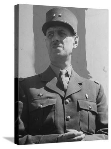 General Degaulle--Stretched Canvas Print