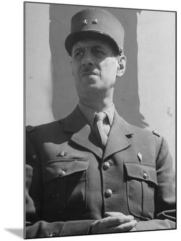 General Degaulle--Mounted Photographic Print