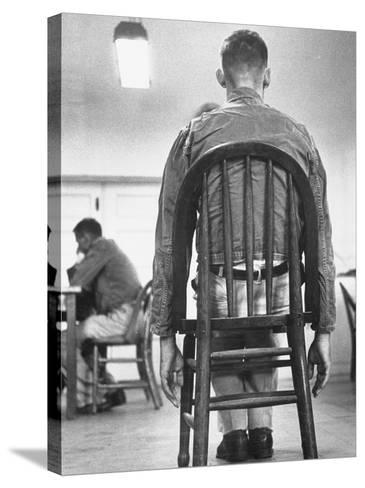 A Mentally Disturbed Patient in the North Little Rock Hospital for War Veterans--Stretched Canvas Print