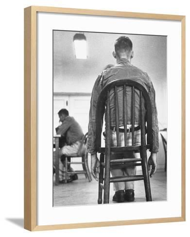 A Mentally Disturbed Patient in the North Little Rock Hospital for War Veterans--Framed Art Print
