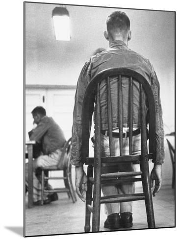 A Mentally Disturbed Patient in the North Little Rock Hospital for War Veterans--Mounted Photographic Print