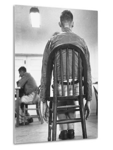 A Mentally Disturbed Patient in the North Little Rock Hospital for War Veterans--Metal Print
