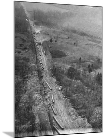 Gulf Interstate Gas Co. Laying Pipe to Be Used in Natural Gas Pipeline Stretching from LA to WV--Mounted Photographic Print