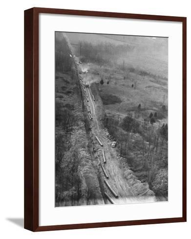 Gulf Interstate Gas Co. Laying Pipe to Be Used in Natural Gas Pipeline Stretching from LA to WV--Framed Art Print