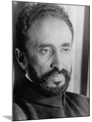 Portrait of Exiled Ethiopian Emporer Haile Selassie--Mounted Photographic Print