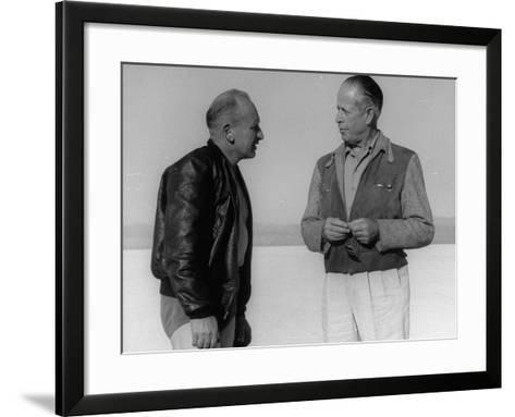 Roland Free Chatting with Photographers--Framed Art Print