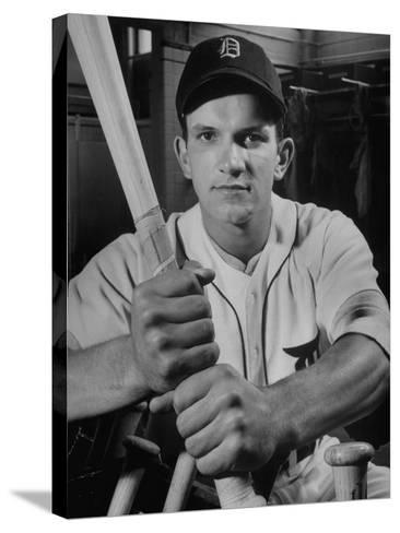 Baseball Player Johnny Groth of the Detroit Tigers Displaying His Powerful Forearms--Stretched Canvas Print