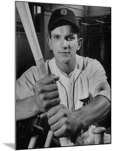 Baseball Player Johnny Groth of the Detroit Tigers Displaying His Powerful Forearms--Mounted Photographic Print