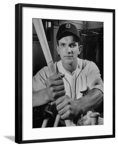 Baseball Player Johnny Groth of the Detroit Tigers Displaying His Powerful Forearms--Framed Art Print