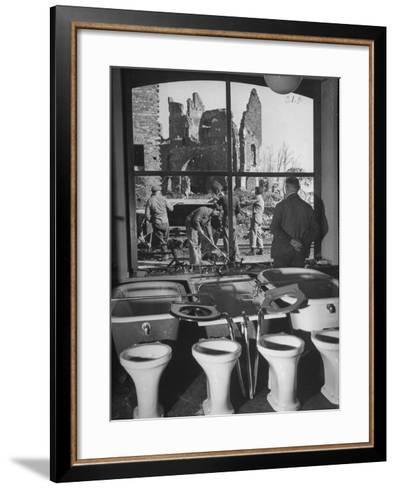 Shiny New Plumbing Displayed in Store--Framed Art Print