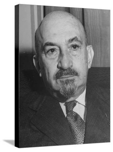 Portrait of Jewish Rabbi, Religious Leader, and Future President of Israel Dr. Chaim Weizmann--Stretched Canvas Print