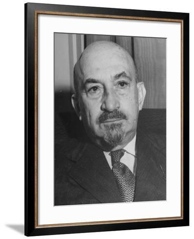Portrait of Jewish Rabbi, Religious Leader, and Future President of Israel Dr. Chaim Weizmann--Framed Art Print
