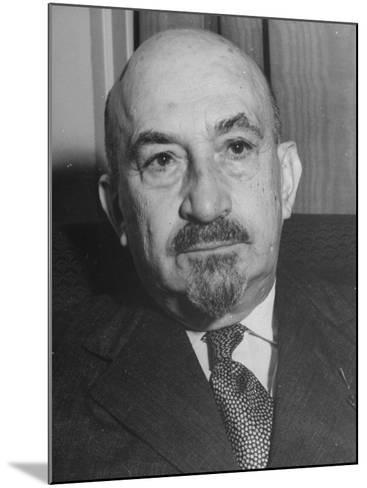 Portrait of Jewish Rabbi, Religious Leader, and Future President of Israel Dr. Chaim Weizmann--Mounted Photographic Print