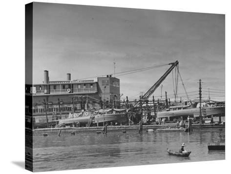 Motor Torpedo Boats of the Philippine Army Offshore Patrol Being Readied for Training Maneuvers--Stretched Canvas Print