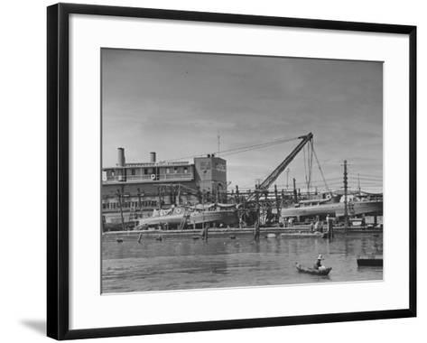 Motor Torpedo Boats of the Philippine Army Offshore Patrol Being Readied for Training Maneuvers--Framed Art Print