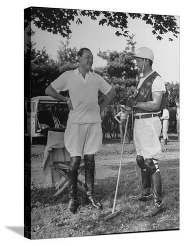 "Cecil Smith and Stephen ""Laddie"" Sanford, Talking at the American-Mexican Polo Match--Stretched Canvas Print"