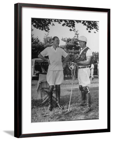 "Cecil Smith and Stephen ""Laddie"" Sanford, Talking at the American-Mexican Polo Match--Framed Art Print"