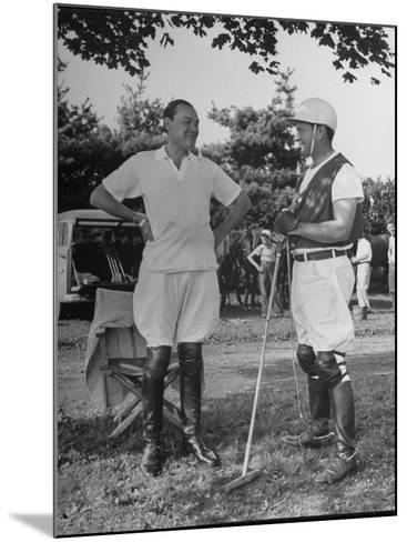 "Cecil Smith and Stephen ""Laddie"" Sanford, Talking at the American-Mexican Polo Match--Mounted Photographic Print"