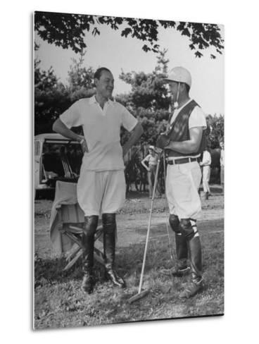 "Cecil Smith and Stephen ""Laddie"" Sanford, Talking at the American-Mexican Polo Match--Metal Print"