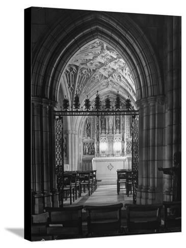 Interior View of the National Cathedral--Stretched Canvas Print