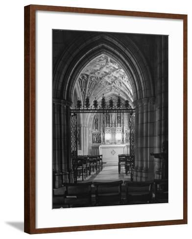 Interior View of the National Cathedral--Framed Art Print