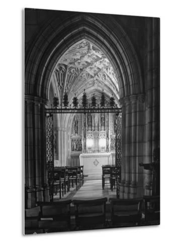 Interior View of the National Cathedral--Metal Print