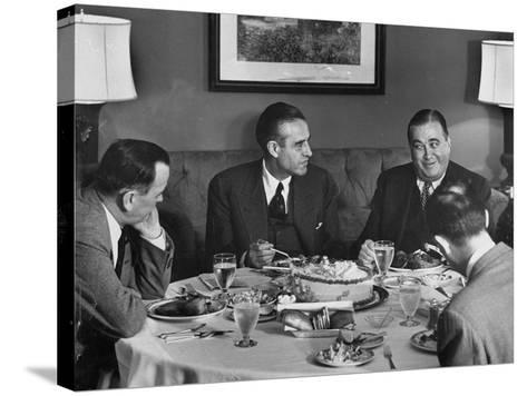 W. Averell Harriman Having Dinner with Others During His Campaign--Stretched Canvas Print