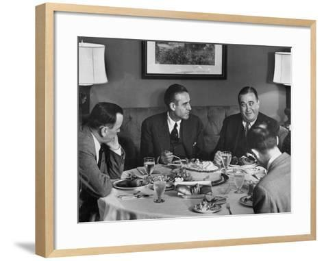 W. Averell Harriman Having Dinner with Others During His Campaign--Framed Art Print
