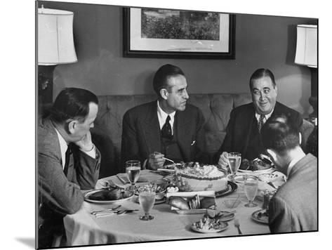 W. Averell Harriman Having Dinner with Others During His Campaign--Mounted Photographic Print
