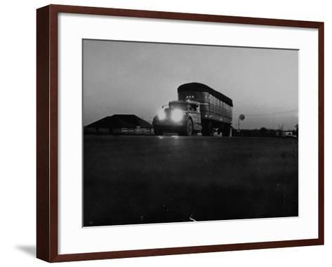 Middle Atlantic Transportation Truck on the Road at Daybreak--Framed Art Print