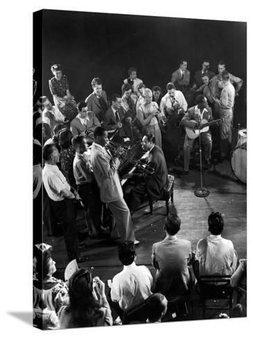"""Composer-Pianist-Arranger Duke Ellington Playing """"Don't Get around Much Anymore""""--Stretched Canvas Print"""